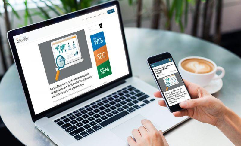 Comparación de web de escritorio y páginas AMP en dispositvo móvil